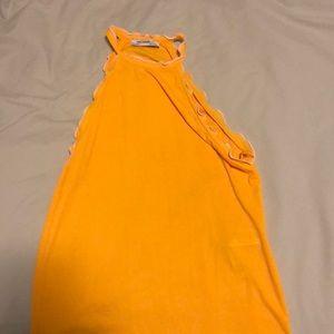 Zara mustard top